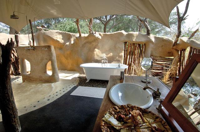 Chongwe River Camp bathroom Zambia Safari