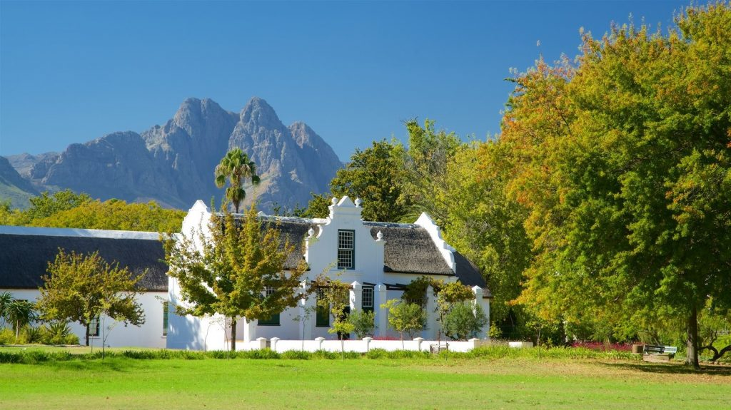 typical cape dutch cape winelands architecture