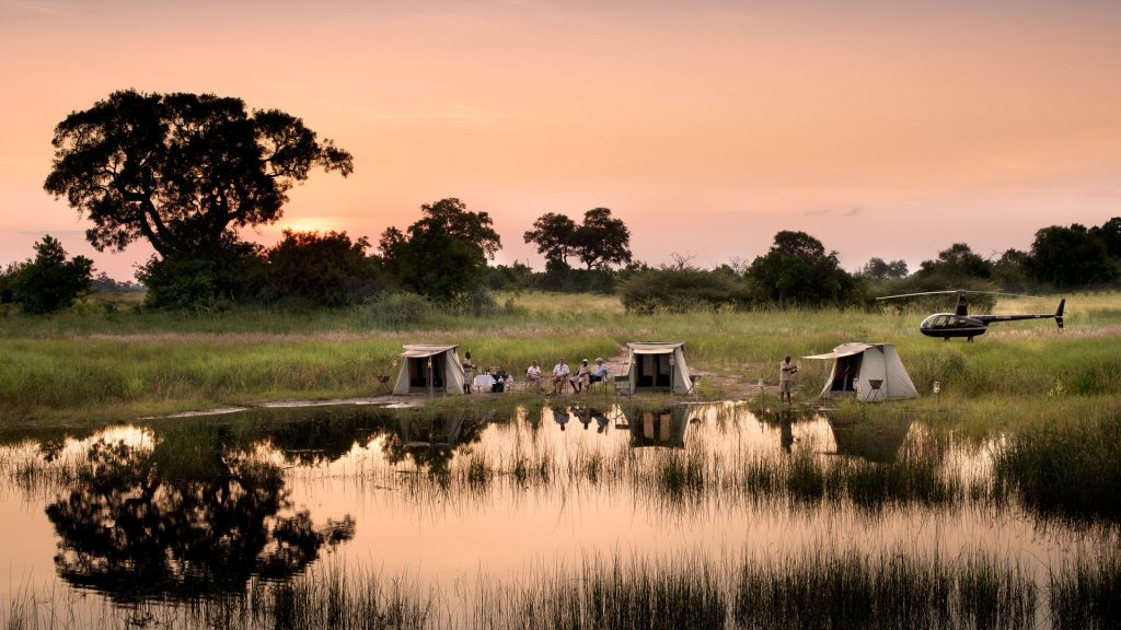 Selinda walking trail Botswana.Image credit to and beyond.