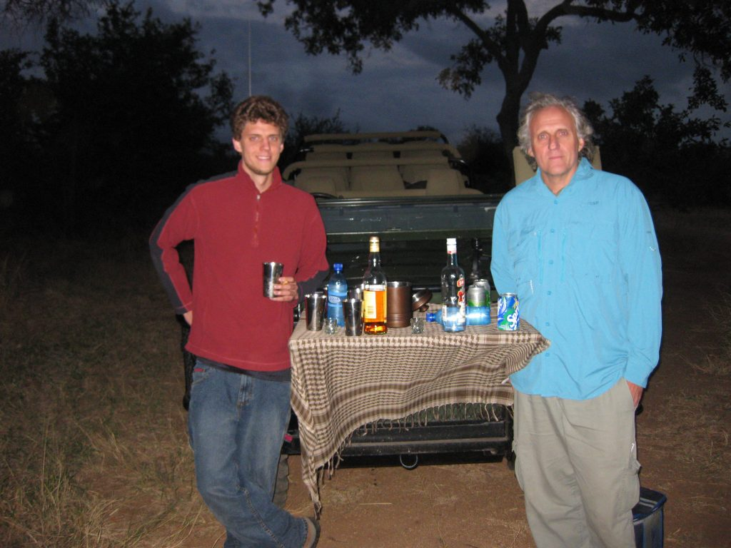 Evening Game Drive Sun downers, Timbivati