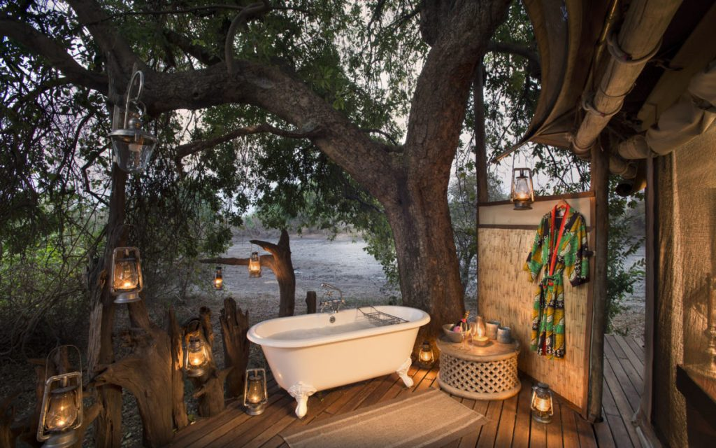 bathroom kanga camp mana pools zimbabwe safari
