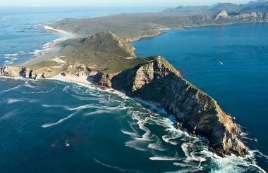 Cape Point where 2 ocean Indian & Atlantic currents merge