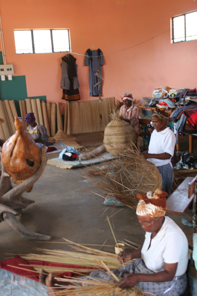 Xhosa Ladies in the Eastern Cape Basket Weaving.