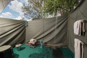 en suite mobile safari bathroom botswana